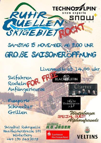 Skiopening Ruhrquelle (Sauerland)