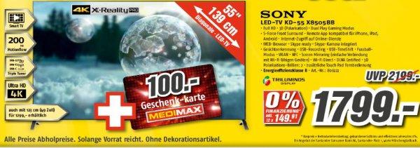[4K]SONY KD55 X8505BB - Medimax Gotha [Lokal?] +100€ Geschenkkarte