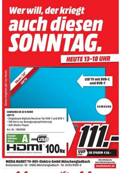 MEDIAMARKT (lokal) Mönchengladbach SAMSUNG UE22H5000 LED-TV 111,00€