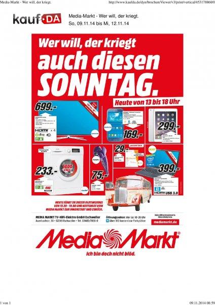(LOKAL Eschweiler) IPad Air 16GB Wifi silber Nur heute im Media Markt 299€