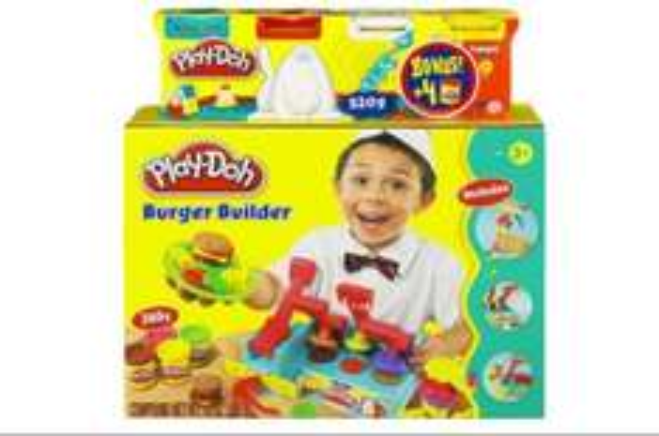 [Online & Offline] Play-Doh - Bundle Burger Builder - Küche mit 4-er Pack | ToysRus