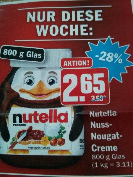 Nutella bei Hit 800g für 2.65