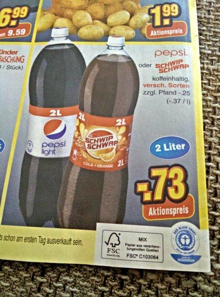 [Netto ohne Hund, ab 15.11] Pepsi oder Schwip Schwap 2l 73 cent zzgl. Pfand.