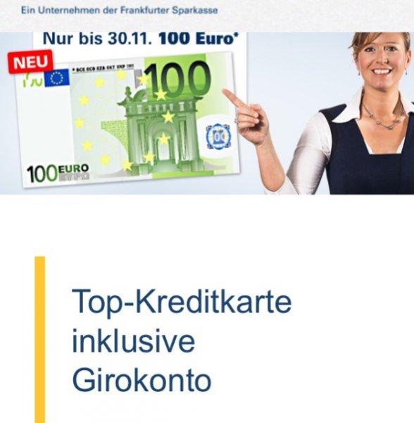 1822direkt - 100 Euro Prämie für ein neues Girokonto