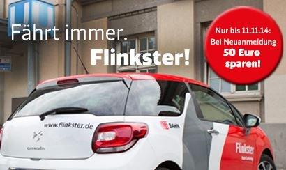 Flinkster Anmeldung kostenlos (ohne Bahncard) bis 11.11.2014 im bundesweiten Tarif