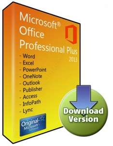 Office 2013 Professionell Plus effektiv für 23,60€