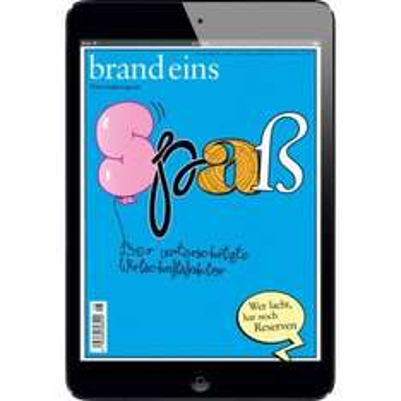 Wirtschaftszeitschrift brand eins 08/2014 [App-Ausgabe]