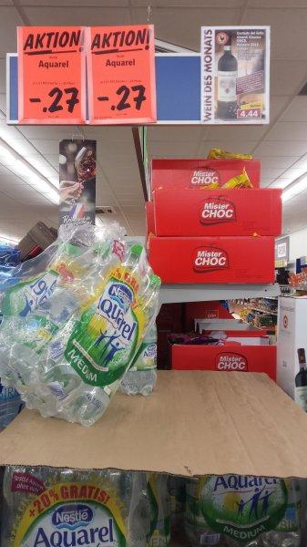 Lidl/Nestle Aquarell +20% mehr inhalt und 30% billiger. Medium/ohne Kohlensäure nur 0,27€/Flasche +Pfand