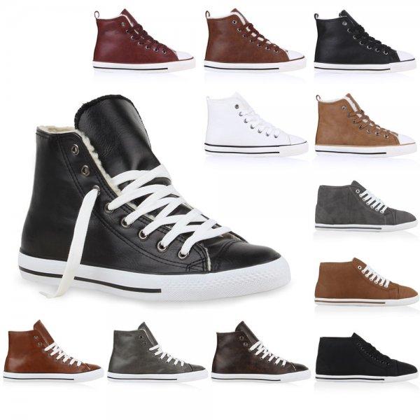 Warm Gefütterte Damen & Herren Sneakers High Top Sportschuhe 99680 Gr. 36-45@ebay 14,90
