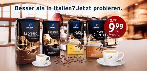 Kaffeebohnen bei Tchibo für 9,99€