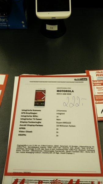 (MM Bischofsheim) Motorola Moto X 1.Gen. 222€