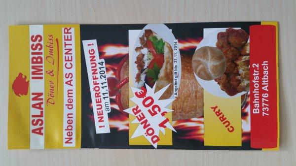 [Altbach|Lokal]Neueröffnung: Döner nur 1,50€