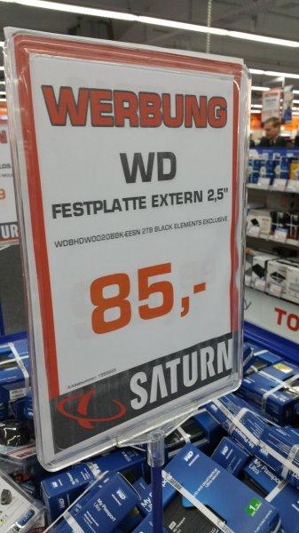 2.5 Zoll WD Elements 2TB 2.5 Zoll  für 85€ lokal? Saturn Mönchengladbach
