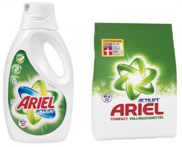 [REAL BUNDESWEIT] Ariel Vollwaschmittel Pulver/Flüssig 15/16WL für 1,09€ = 0,07€/WL (Angebot + Coupon + Payback)