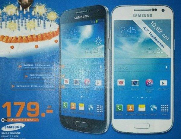Samsung Galaxy S4 mini, 179€, Lokal Flensburg Saturn