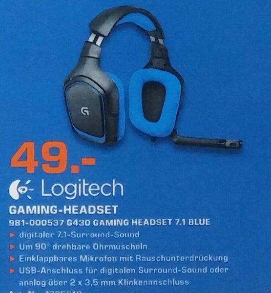 Logitech g430 Gaming headset Geburtstagsangebot Saturn Flensburg