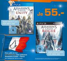 [Lokal Köln?] Assassins Creed Unity PS4 / Xbox One u. Rogue für PS3 / Xbox 360 für je 55 €
