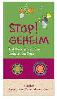 """10 Webcamsticker """"Stop geheim!"""" vom Familienministerium gratis"""