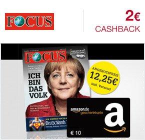 [Qipu] 5 Ausgaben FOCUS für 12,25€ + 10€ Amazon Gutschein + 2€ Cashback