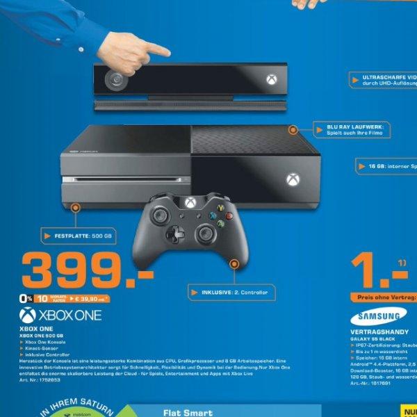 [lokal offline Bad Homburg] Xbox One + Kinect + 2. Controller @ Saturn