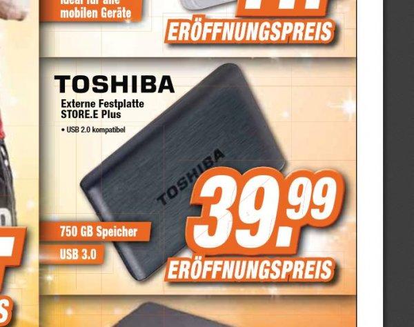 [Lokal Garbsen Expert] Toshiba STOR.E PLUS 750GB 2,5Zoll USB3.0, Festplatte, extern