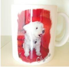 Tasse mit Fotodruck und Name von petsworld-and-more.de