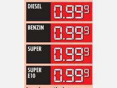 Tanken für 99 Cent/Liter 25.11.2014 (SELIGENSTADT (HESSEN))