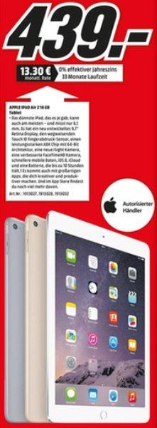 [Lokal MM München, Karlsfeld und Erding] Apple Ipad Air 2 16GB Wifi in allen Farben