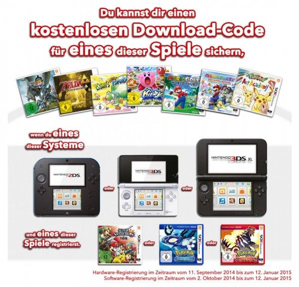 Nintendo 3DS Winter 2014 Bonus-Spiel-Aktion