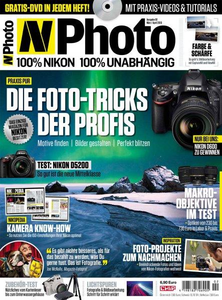 4x Zeitschrift N-Photo für 14,90€ + 15€ Universalgutschein als Prämie