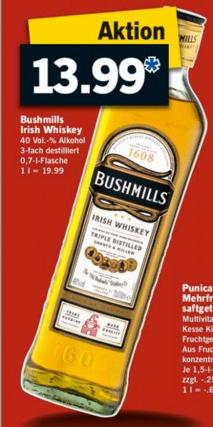 [Lidl Offline - ab 17.11.] Irish Whiskey Bushmills 0,7l für 13,99