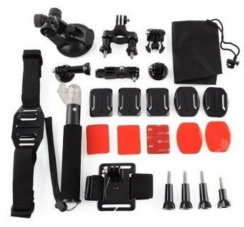 Nochmal gefunden! 25tlg Zubehör Set für nur 21,00€ Inkl. VSK! Kompatibel mit GoPro Hero 1/2/3/3+ und Action Kameras