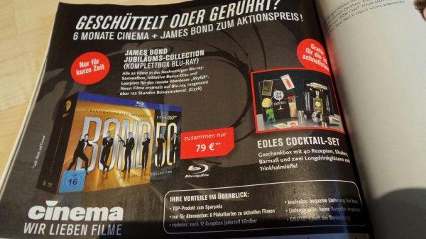 James Bond Jubiläums-Collection Bluray + 6 Monate Cinema