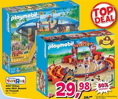 PLAYMOBIL 5057 Zirkus oder 5921 Besuch im Tierpark bei Toysrus
