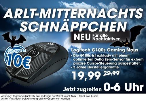 Mitternachtsshopping bei ARLT - Logitech G100s bis 6:00 Uhr für 19,99€ bei Abholung - sonst +4,99 VSK