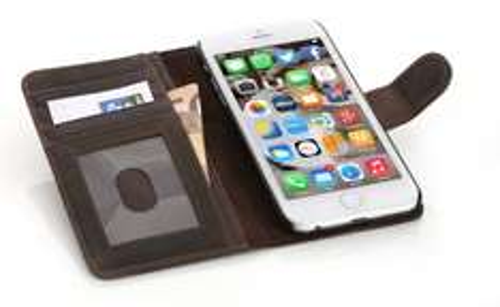 Mobiletto iPhone 6 LUXURY Echtleder Schutzhülle dunkelbraun