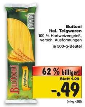 [KAUFLAND OWL evtl. Bundesweit] Buitoni Nudeln (ab 20.11.) neuer Bestpreis