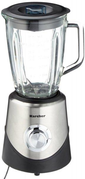 Karcher HM555 Standmixer (inkl. Mixbehälter aus Glas, 2 Geschwindigkeitsstufen, Pulse-Funktion, moderne Edelstahloptik)@ Amazon