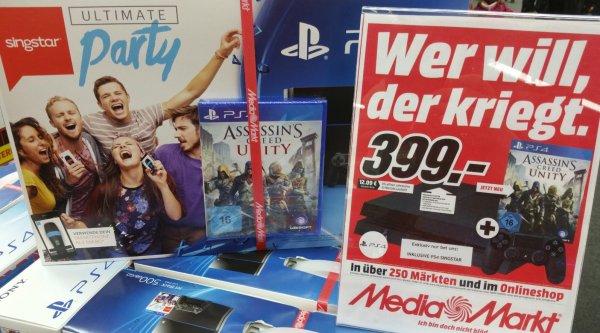 [Lokal Frankfurt] PS4 Singstar Bundle + Assassin's Creed Unity 399,-