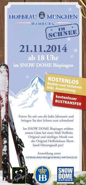 [LOKAL HAMBURG] - Kostenlos in den Snowdome Bispingen inkl. Anfahrt / Softdrinks / Ausrüstung