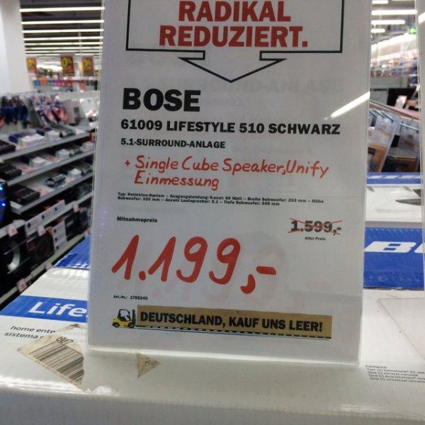 [Lokal Media Markt Fellbach] Bose Lifestyle 510 Schwarz 1199,-€