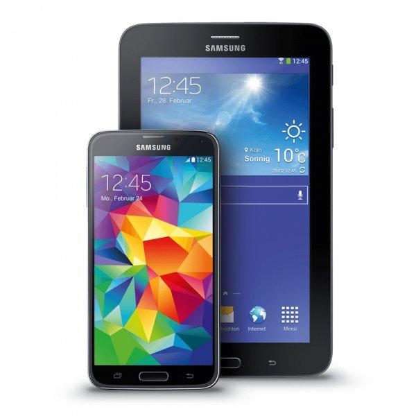 [Smartkauf] Samsung Galaxy S5 schwarz & Galaxy Tab 3 7.0 Lite T110 WiFi 8GB schwarz