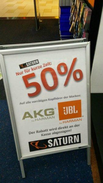 (lokal Saturn Weiterstadt) JBL Synchros S500 124,50€ (idealo 219€), 50% auf alle Kopfhörer von JBL und AKG