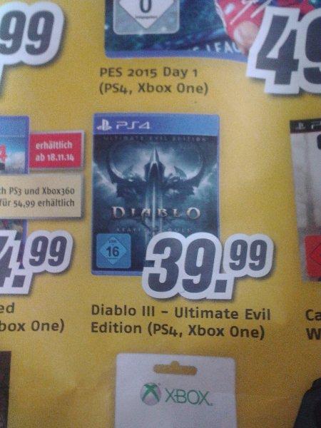 [MediMax] Diablo III - Reaper of Souls - Ultimate Evil Edition (PS4 & Xone)