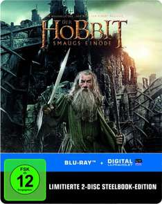 [Amazon.de Prime] Der Hobbit: Smaugs Einöde Steelbook [Blu-ray] [Limited Edition] für 10€