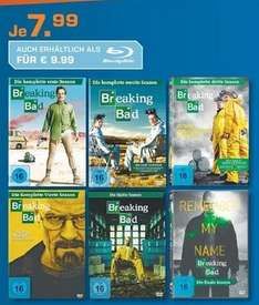Lokal Saturn Heidelberg Breaking Bad Staffel 1-6 für je 7,99[DVD] oder je 9,99 [Blu-Ray]