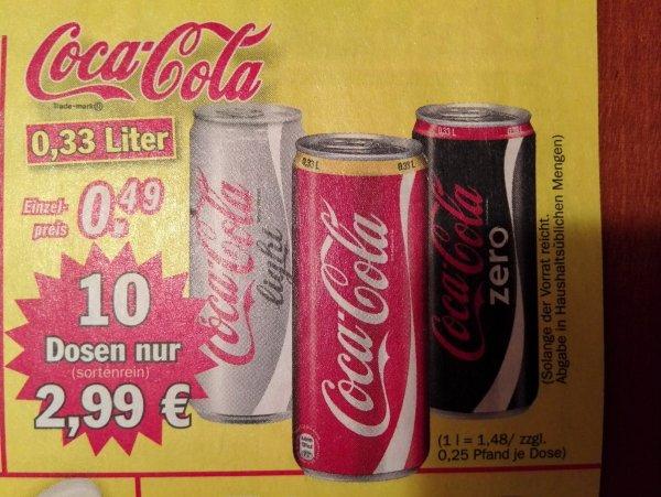 (lokal) Zimmermann: 10 Dosen Cola für 3€