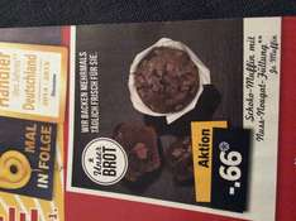 LIDL: ab 17.11. Schoko-Muffins mit Nuss-Nougat-Füllung je 66 Cent
