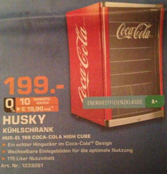 [Lokal Saturn Bocholt] Husky Coca Cola Kühlschrank | 199,- | Ersparnis 70,- €