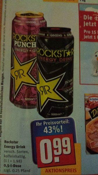 Rockstar Energy Drink für 0,49 € !!!! bei REWE Lieferservice (mit Coupon)